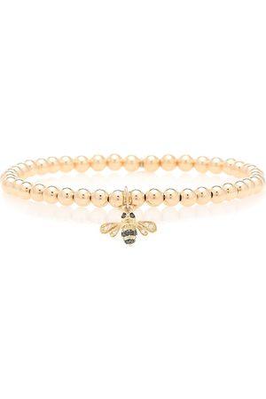 Sydney Evan Bumblebee 14kt beaded bracelet