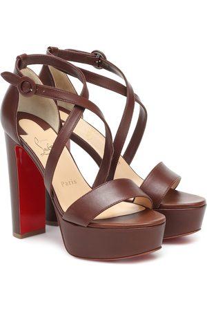 Christian Louboutin Loubi Bee Alta leather platform sandals