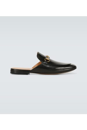 Gucci Men Slippers - Leather Horsebit slippers