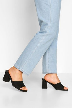 Boohoo Womens Wide Fit Square Toe Mules - - 5