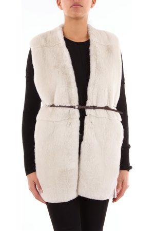 PESERICO SIGN Vest Women Ivory