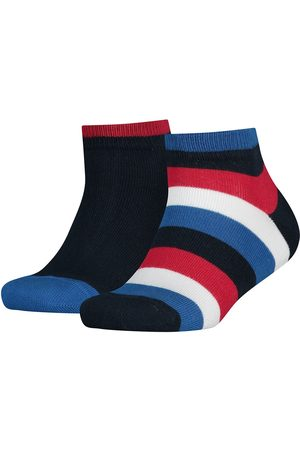 Tommy Hilfiger Socks - Basic Stripe Quarter 2 Pack EU 31-34 Midnight