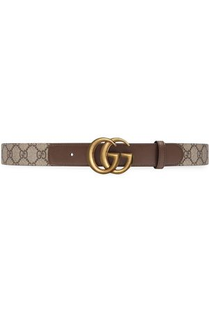 Gucci Women Belts - Double G buckle GG belt