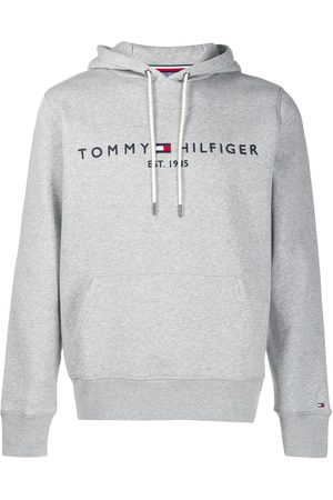 Tommy Hilfiger Logo embroidered hoodie - Grey