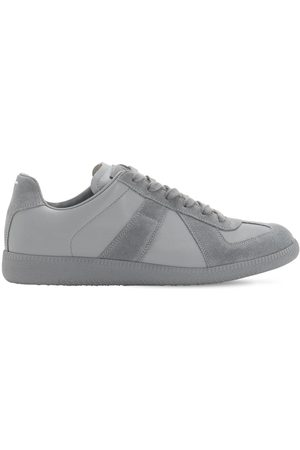 Maison Margiela Men Sneakers - Replica Leather & Suede Low Top Sneakers