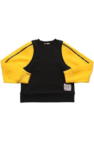 Nº21 Cotton Sweatshirt W/ Zip-up Sleeves