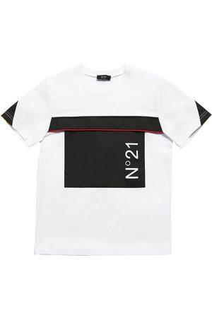 Nº21 Cotton Jersey T-shirt W/ Nylon Insert