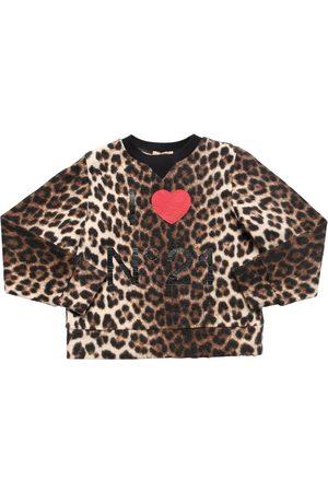 Nº21 Leopard Print Cotton Sweatshirt