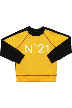Nº21 Color Block Cotton Sweatshirt