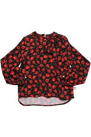 Nº21 Cherry Print Viscose Shirt