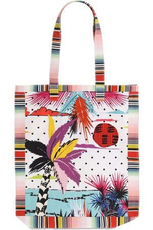 Missoni Printed Cotton Canvas Tote Bag