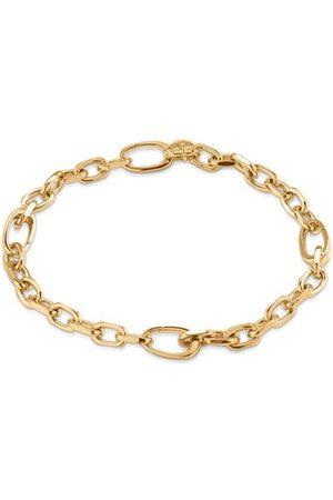 Monica Vinader Gold Alta Capture Mini Link Charm Bracelet