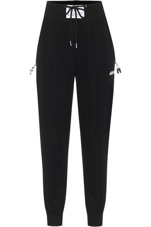 Adam Selman Sport Women Leggings - High-rise cotton-blend trackpants
