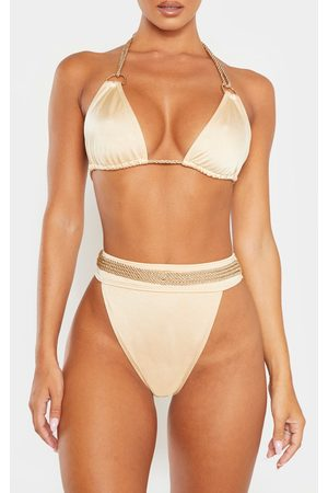 PRETTYLITTLETHING Nude Strappy Rope Bikini Bottom