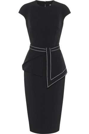 Safiyaa Stretch-crêpe midi pencil dress