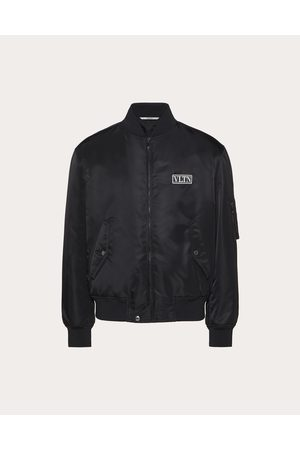 VALENTINO Nylon Bomber With Vltn Tag Man 100% Poliammide 46