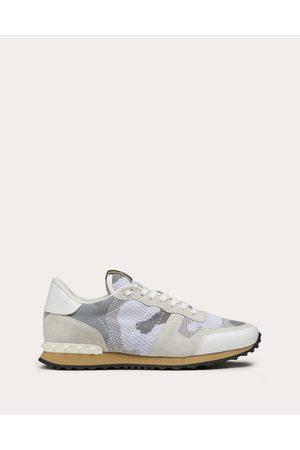 VALENTINO GARAVANI Mesh Fabric Camouflage Rockrunner Sneaker Man Polyester 100% 42
