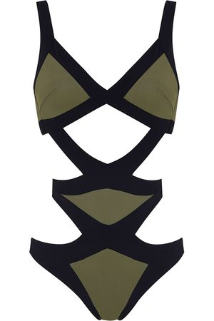 Agent Provocateur Women Swimsuits - Mazzy Swimsuit Khaki And