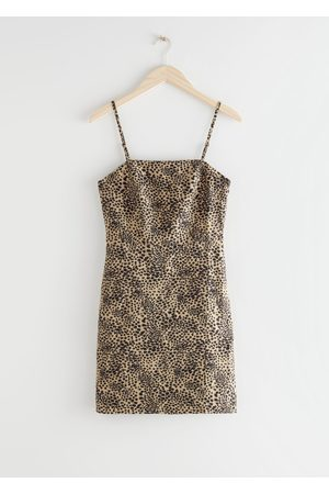 & OTHER STORIES Fitted Linen-Blend Mini Dress