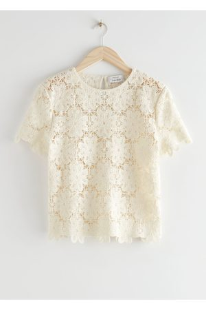 & OTHER STORIES Crochet Lace Top