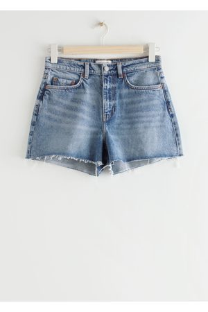 & OTHER STORIES High Rise Cut Off Jeans Shorts