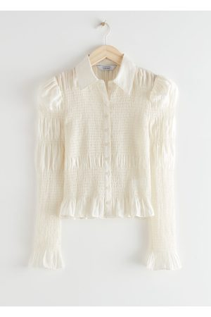 & OTHER STORIES Fitted Smocked Shirt