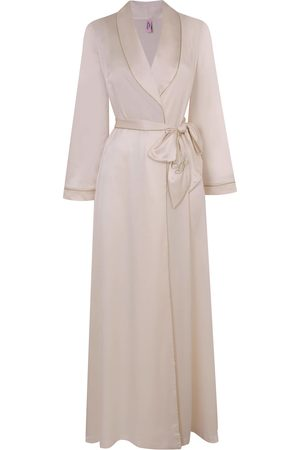 Agent Provocateur Women Bathrobes - Classic Silk Dressing Gown In Ivory