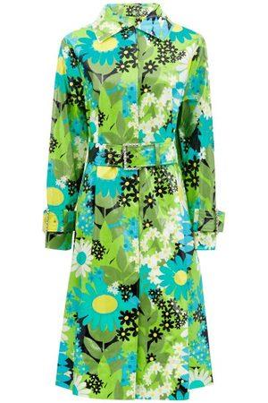 Moncler Genius Women Rainwear - Charlie Floral Coated Cotton-canvas Raincoat - Womens - Multi