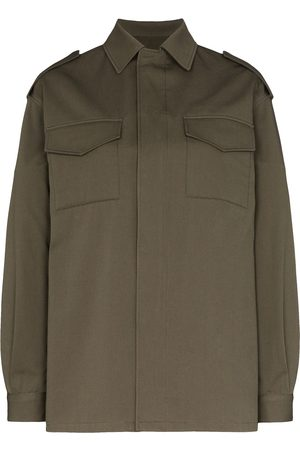 VALENTINO Women Jackets - VLOGO stitched shirt jacket