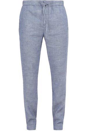 Frescobol Carioca Men Sports Pants - Sport Linen-blend Trousers - Mens - Navy