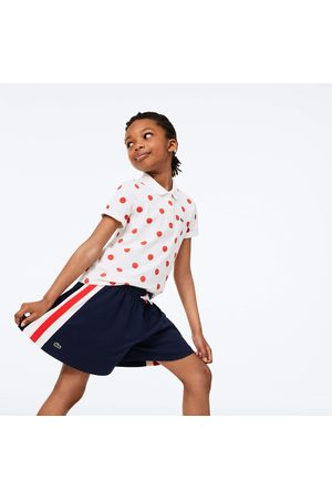 Lacoste Girls' Cotton Striped Shorts : / /