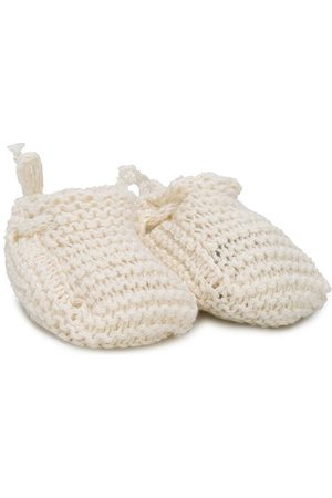MESSAGE IN THE BOTTLE Gaby knitted slippers - NEUTRALS