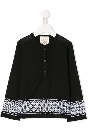 DOUUOD KIDS Sbieco embroidered detailing shirt