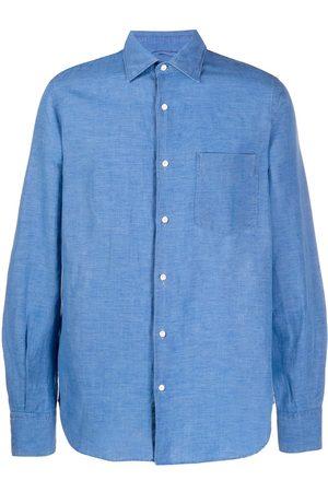 Aspesi Plain button-up long sleeve shirt