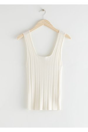 & OTHER STORIES Deep Scoop-Neck Rib Top