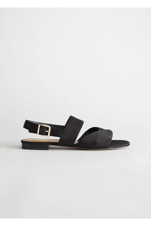 & OTHER STORIES Twill Slingback Buckled Sandals