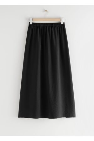 & OTHER STORIES Tilted Smock Midi Skirt