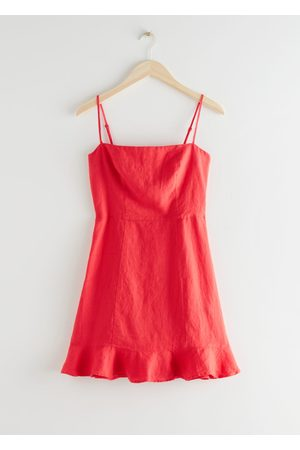 & OTHER STORIES Spaghetti Strap Linen Mini Dress