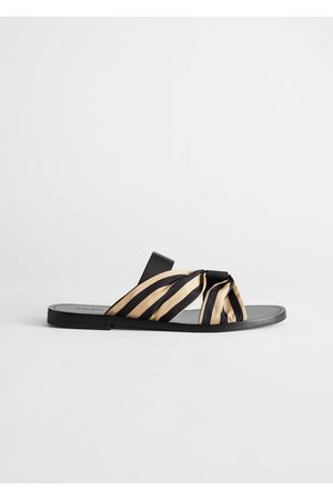 & OTHER STORIES Women Sandals - Striped Strap Leather Sandals