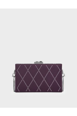 CHARLES & KEITH Satin Embellished Clutch