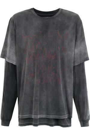 Comme des Garçons À LA GARÇONNE + HERING double t-shirt - Grey