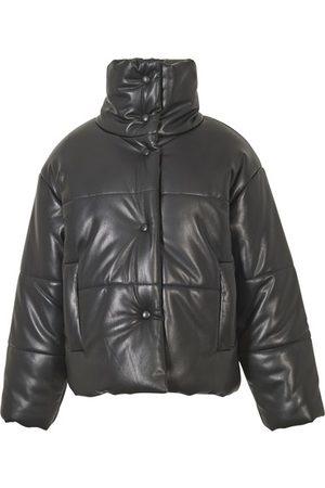 Nanushka Women Leather Jackets - Hide puffer jacket in vegan leather