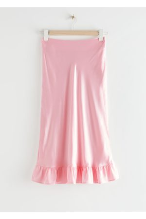 & OTHER STORIES Ruffled Crepe Midi Skirt
