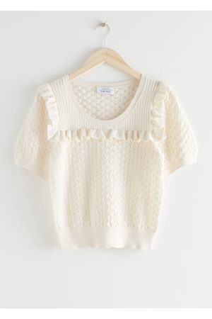 & OTHER STORIES Frilled Puff Sleeve Knit Top