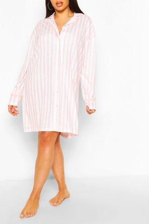 Boohoo Womens Plus Candy Stripe Jersey Nightie - - 12
