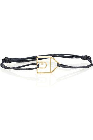 Aliita Casita 9kt gold cord bracelet with diamond