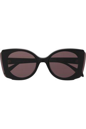 Alexander McQueen Chunky round-frame sunglasses