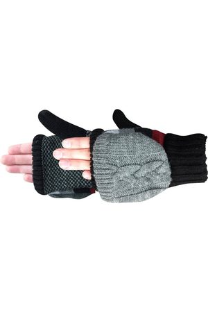 Acorn Women Gloves - Women's Striped Knit Convertible Gloves