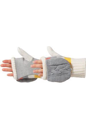 Acorn Women's Striped Knit Convertible Gloves