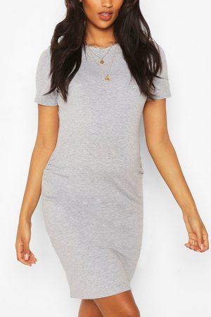 Boohoo Womens Maternity Bodycon Midi Dress - - 4